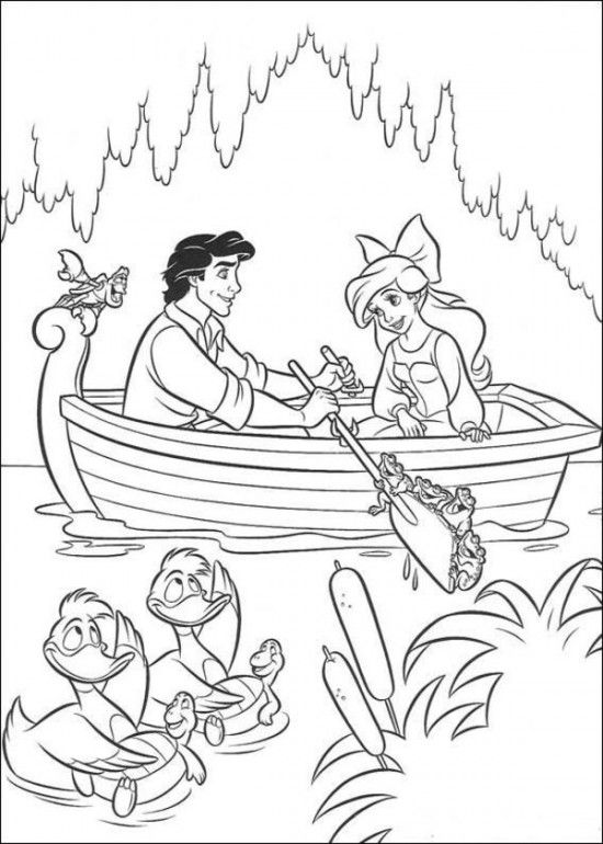 coloring pages of ariel the little mermaid picture 32 550x770 picture