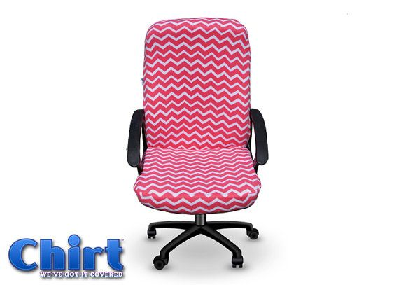 Pink Chevron Chirt Custom fice Chair Cover by ChairWearFashion Limited Edition Fashion Chirt