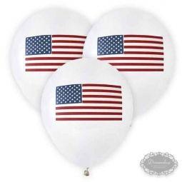 US Ballon - Amerikansk US tema borddækning - amerikansk flag paptallerken, papkrus, servietter med det amerikanske flag - 4th of july fest bordpynt