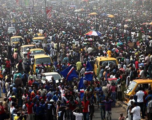 What are effects of Nigeria population?