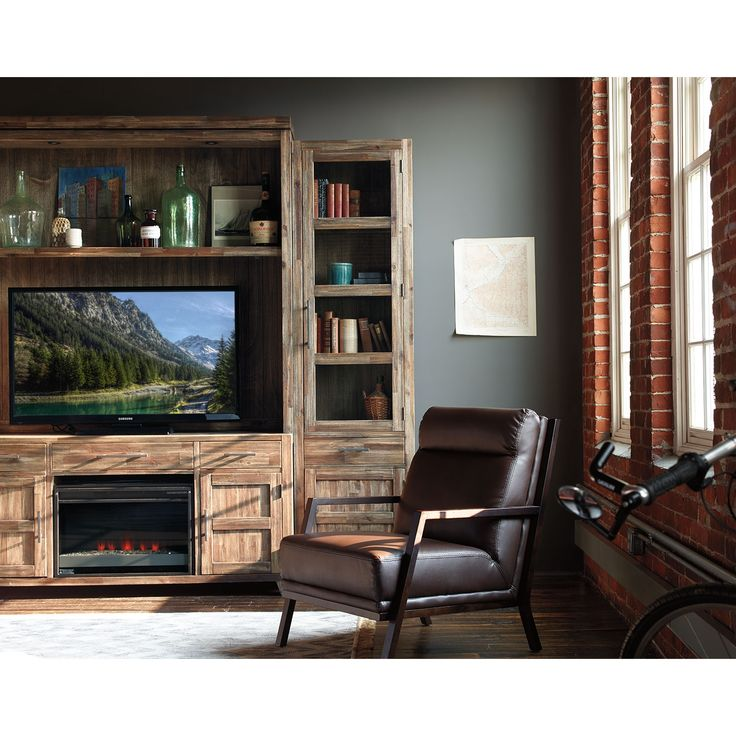 bentwood fireplace tv stand 2