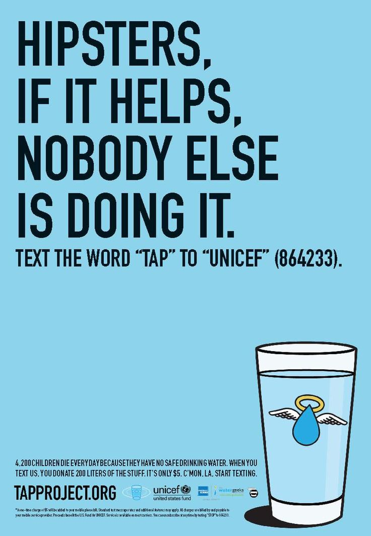 Unicef / Tap Project: Hipsters | Ads of the World™