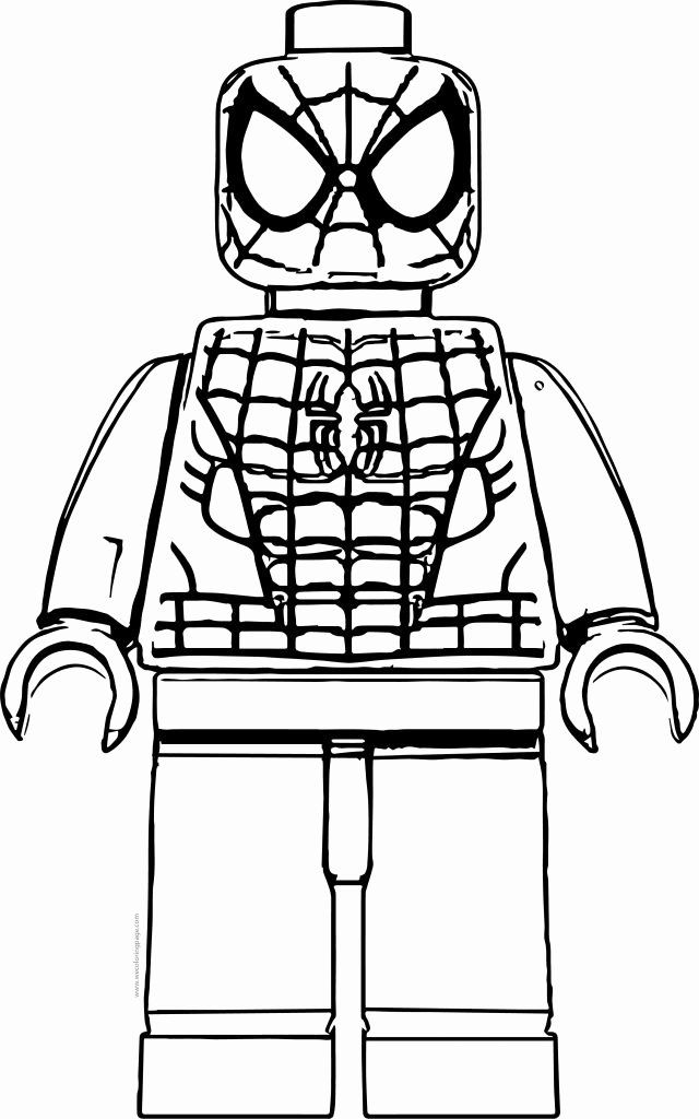 Lego Spiderman Coloring Page Luxury Spider Man Lego Front View