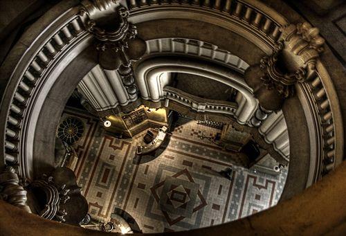 "Palacio Barolo; Buenos Aires, Argentina. A building built based on Dante's ""Divine Comedy."""