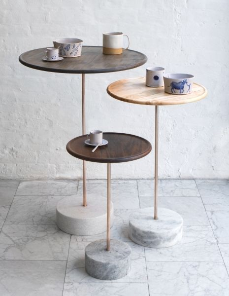 FURNITURE   CAFE TABLE   BDDW  interior design, side table, wood, metal, marble, minimalist, contemporary, modern
