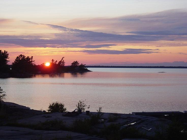 Sunset over Georgian Bay, Canada