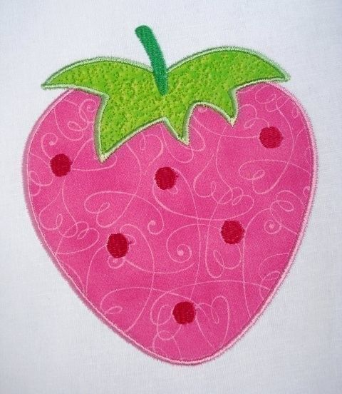 Strawberry Machine Embroidery Applique by DigitizedCreations, $3.99