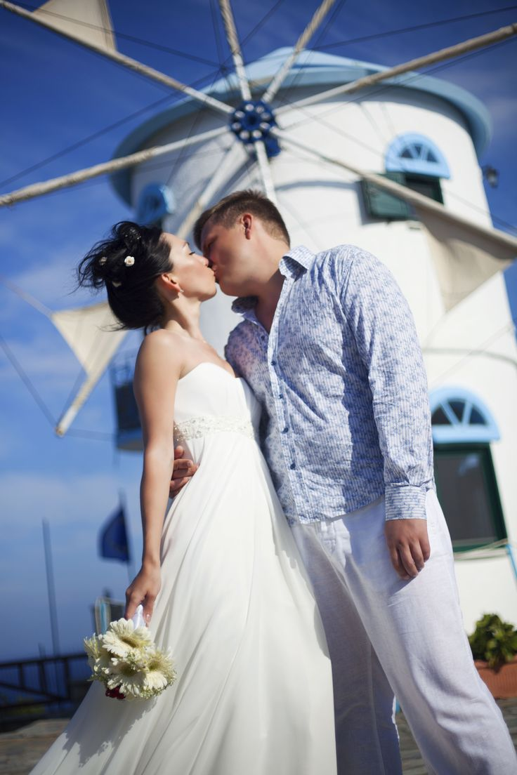 Modro bile Recko a svatebni den Anastasie a Vitalyho
