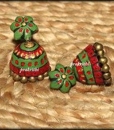 Buy terracotta big jumka jhumka online