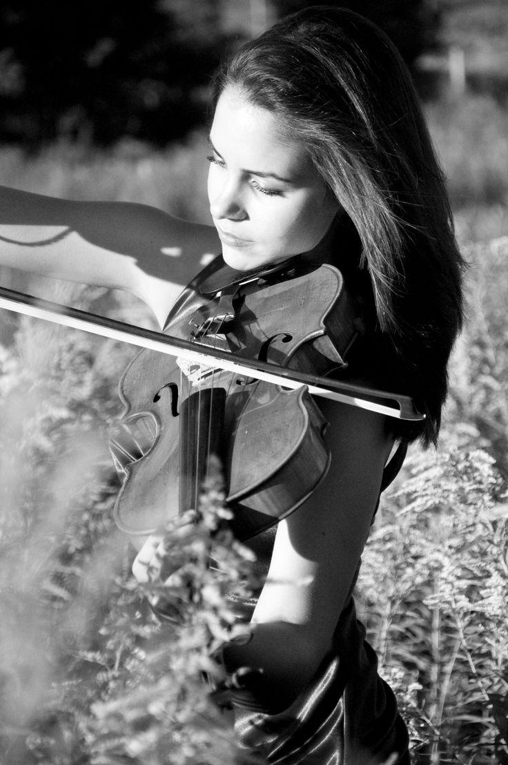 Viola in a field