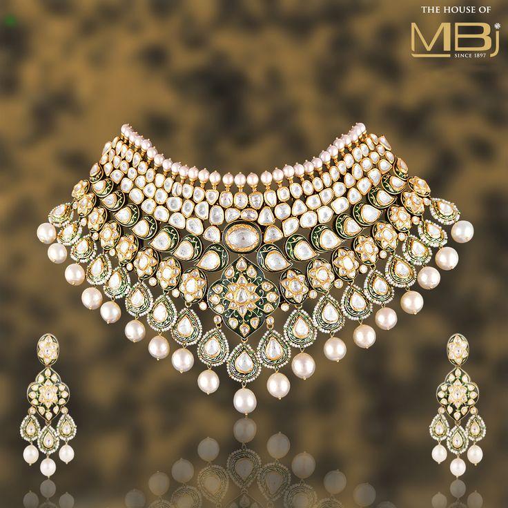 Unrivalled precision, beautiful designs.  #TheHouseofMBj #MBj #MBjIndia #Necklace #Polkijewellery #Luxury #Bridaljewellery