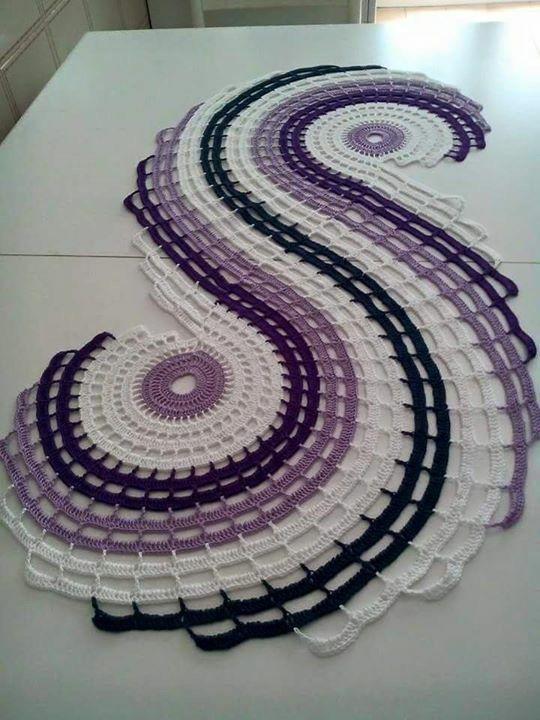 Crochet swirl