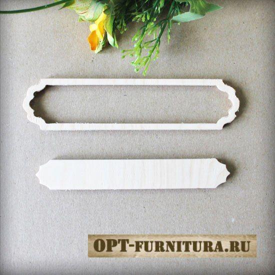 Набор накладок фигурных деревянных для шкатулки на opt-furnitura.ru #накладкадляшкатулки #декупаж #заготовкидлядекупажа #накладка