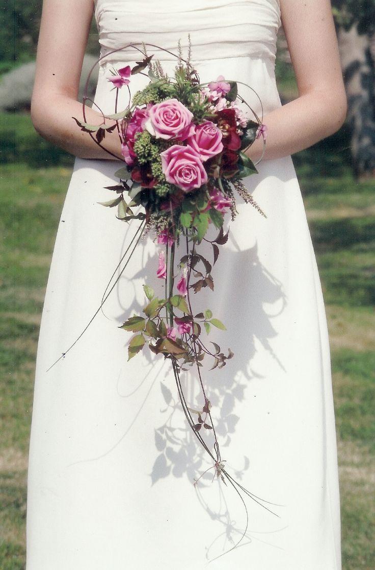 Каскадный свадебный букет мастер класс