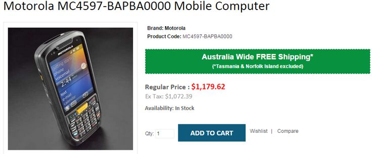 Best deals on Motorola MC4597-BAPBA0000 Mobile Computer at OnlyPOS Store. We offer FREE Shipping in Australia excluding Tasmania & Norfolk Island..!    http://www.onlypos.com.au/motorola-mc4597-bapba0000-mobile-computer