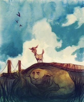 by Cory Godbey: Concept Art, Shorts Stories, Cory Godbey, Goats Gruff, Folk Tales, Billy Goats, Fairies Tales Illustrations, New Books, Kids Rooms