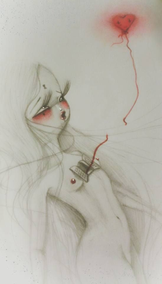 #ohmydolls #art #popsurrealism #heart #whereyougo #bigheart #fly #dolls #bambole #pencil #mixedmedia #digitalart #redheart #warmheart #windowheart #openyourheart #bigheart #wildheart