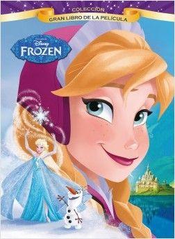 """""""Frozen. Gran libro de la película"""" Frozen, la película: Anna se embarca en un viaje épico en busca de su hermana, cuyos poderes han atrapado al reino de Arendelle en un invierno perpetuo. la ayuda de Kristoff, su fiel reno Sven y un muñeco de nieve encantado llamado Olaf, Anna tendrá que luchar contra los elementos para salvar su reino.   Una hermosa historia sobre dos hermanas y el poder de la amistad y el amor. Signatura: PELÍCULAS"""