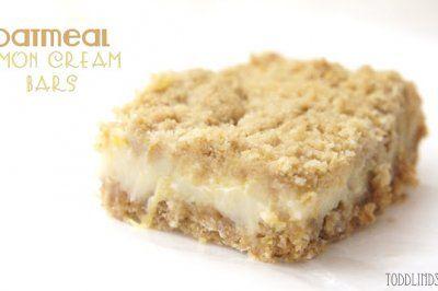 Oatmeal Lemon Cream Bars by Lindsey Confessions of a Lemonholic