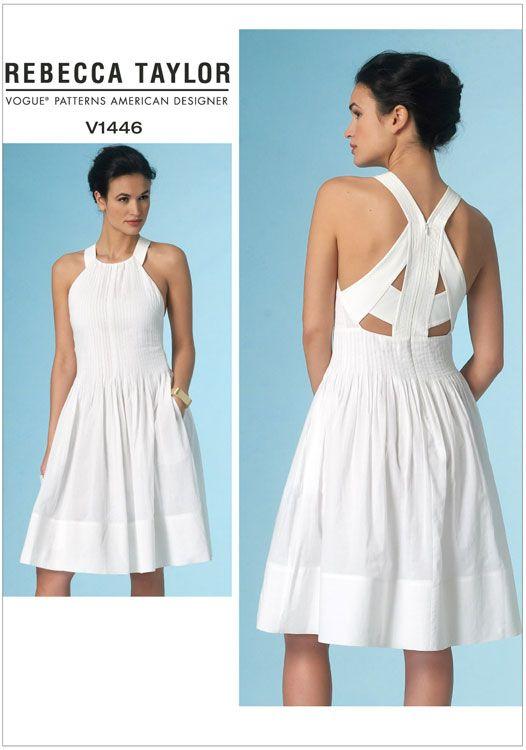 Misses Dress Vogue Sewing Pattern No. 1446.