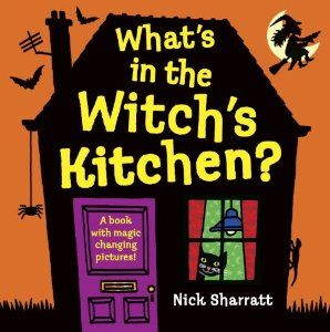 What's in the Witch's Kitchen by Nick Sharratt. This is very appealing to small boys who like things which are a touch revolting!  Very funny.
