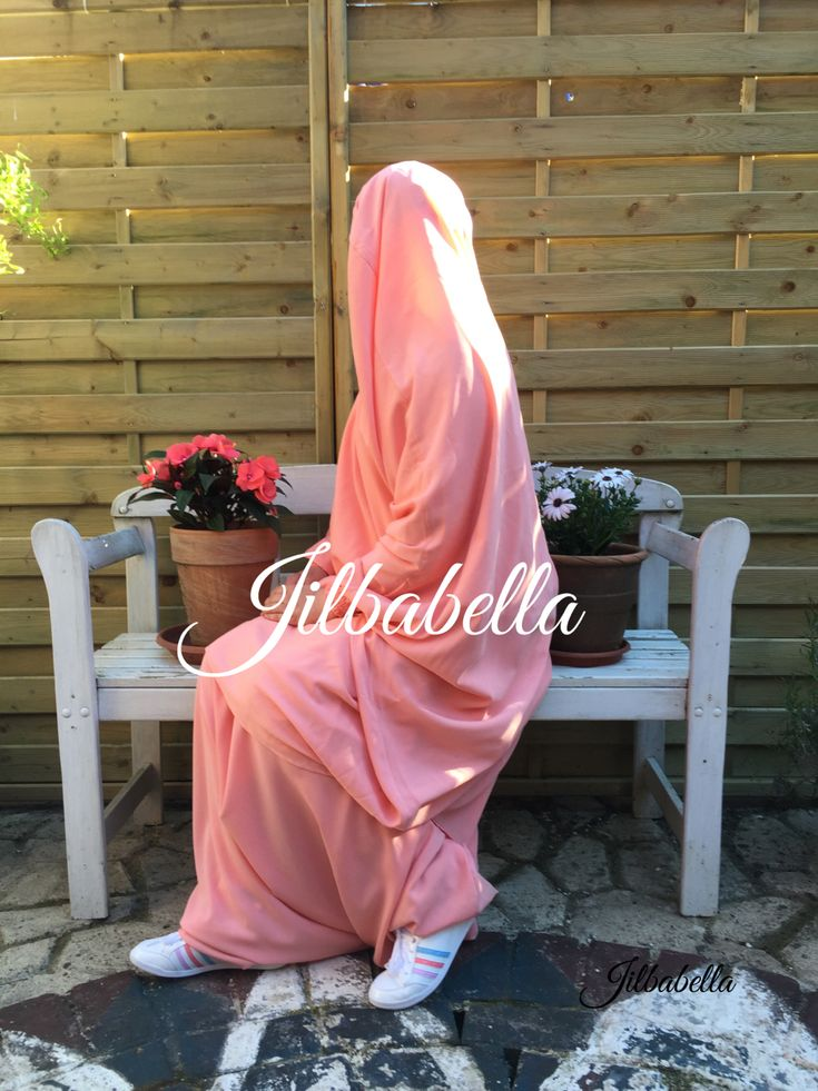 One of my favourite colours-OOTD by Jilbabella - Al Afifa Salmon colored Jilbab with Sarouel pants