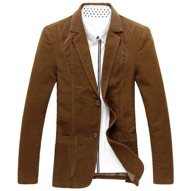 PLUS SIZE men blazers jacket blazer business suit two buttons men dress coats casual corduroy trajes hombre chaqueta free ship