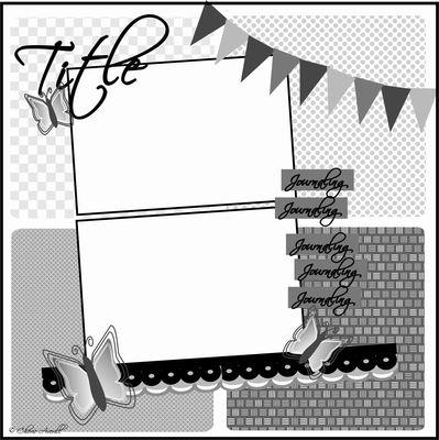 Sassy Lil Sketches 2 horizontal 4x6 photos + banner