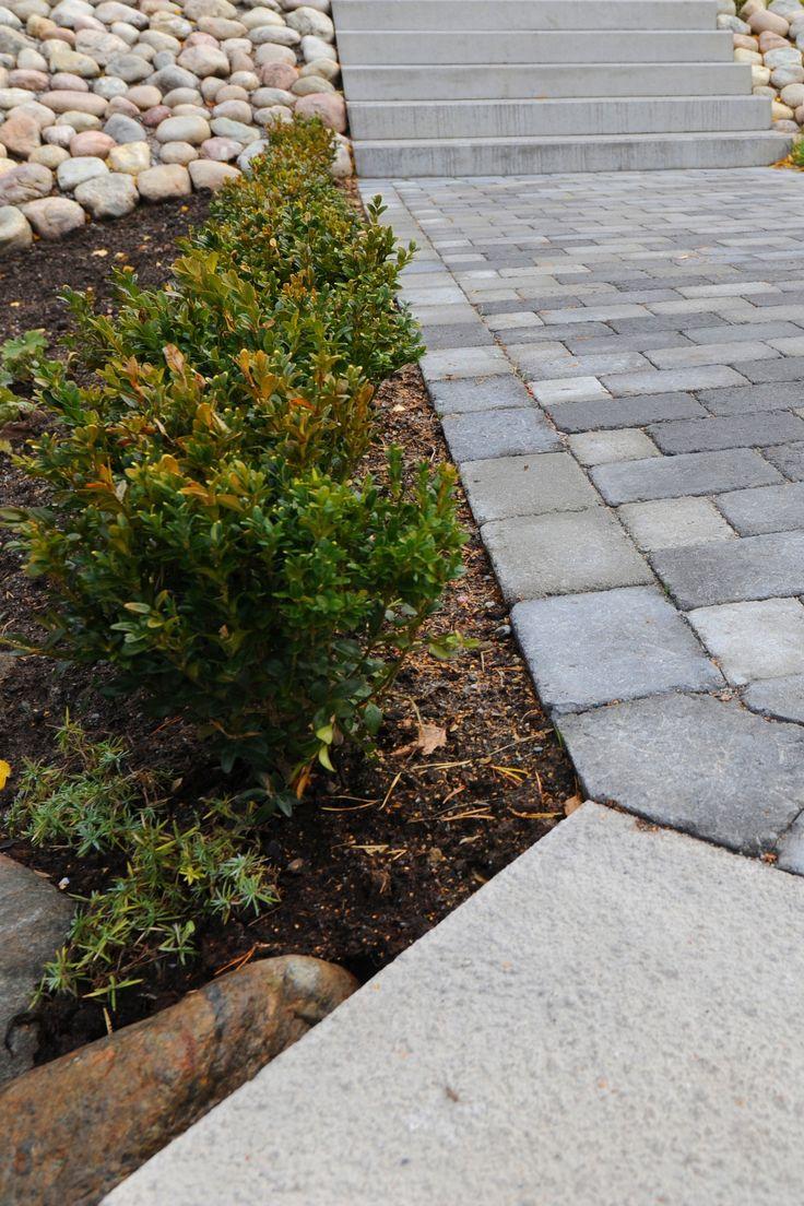 Marksten i betong passar utmärkt i trädgården. Dekorerar med kullersten för ett mer livfullt och exklusivt intryck. Produkterna är Labyrint Mini och Kullersten, 800 kg. #betongsten #kullersten