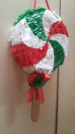 Hermosa piñata de paleta navideña!!