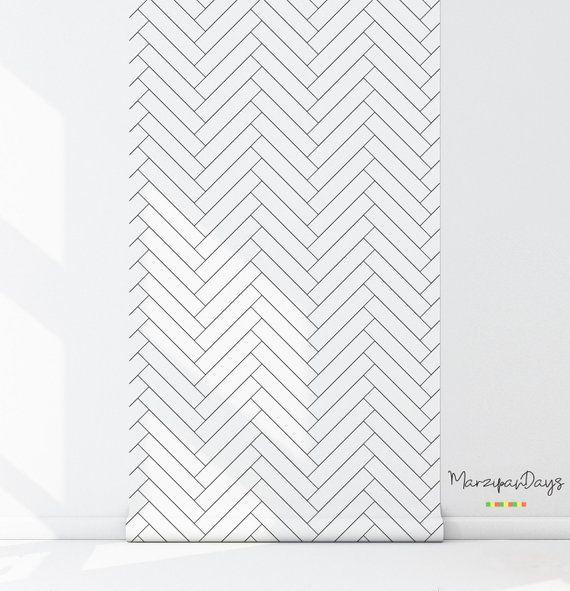Black And White Herringbone Wallpaper Pvc Background Wal Https Www Amazon Com Dp B07t Herringbone Wallpaper Wallpaper Designs For Walls Chevron Wallpaper