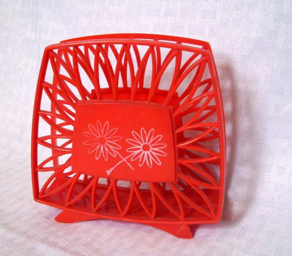 Vintage Orange Napkin Holder