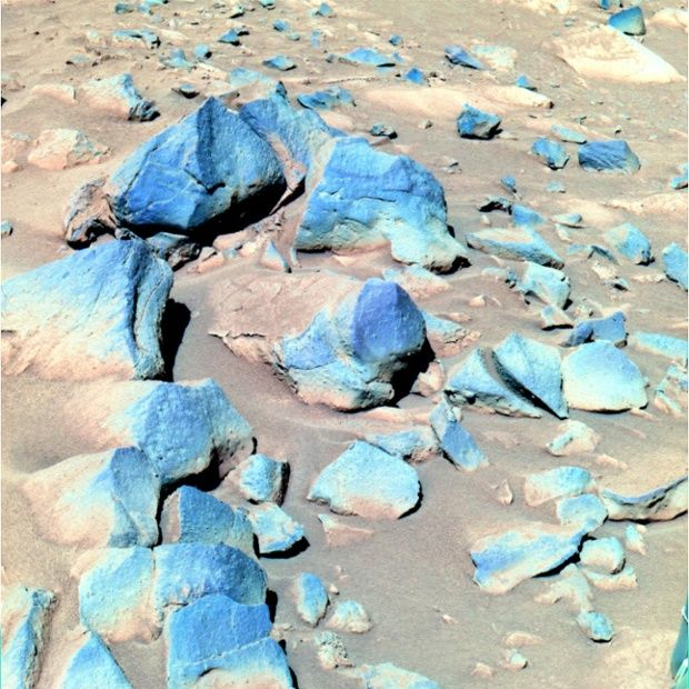 These dark rocks are known as Toltecs and are thought to be volcanic or basaltic because of their colour
