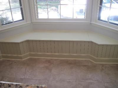 Large bay window seat.  Add padding and kitchen table and chairs