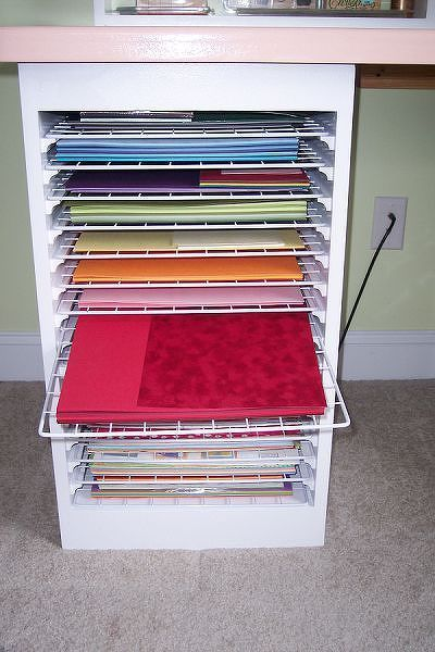 15 best images about paper storage on pinterest storage for Craft paper storage ideas