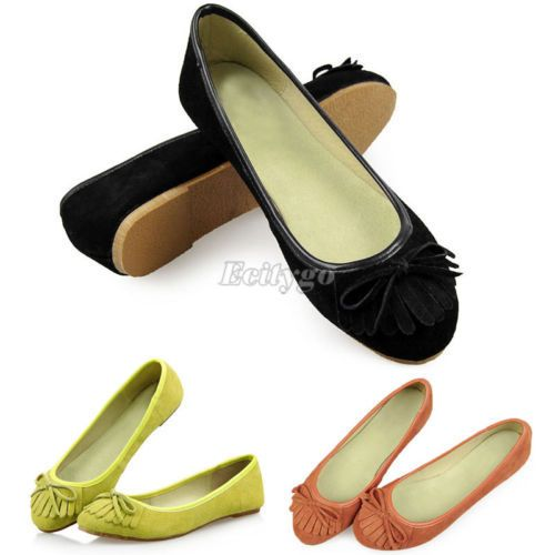 Новые кожаные Квартиры мода Женская дамы замши вскользь нескользящей обуви Балет Балерина Тапочки 3 цвета ЕС Размер 36-39 US $11.80 - 12.30
