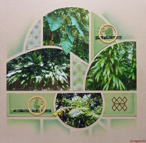 """Pour changer du carnaval, revenons au gabarit d' Azza """"Orion"""", avec une page sur les plantes de la foret tropicale en Guadeloupe. Je me suis inspirée d'une publication faite par Christine Caparros concernant des tulipes ."""