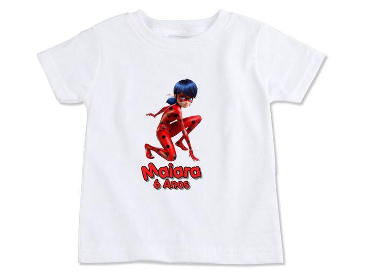 **** LEIA TODO O ANUNCIO!!! ***    Camiseta infantil, personalizada Miraculous Ladybug!  - Camiseta infantil 100% Poliéster e ótimo acabamento.  - Disponível SOMENTE NA COR BRANCA (NÃO FAZEMOS EM OUTRA COR).  - Tamanhos: 2 a 8 Anos ( Numeração Par )  - Modelo: Manga curta  - Impressão não desbota...
