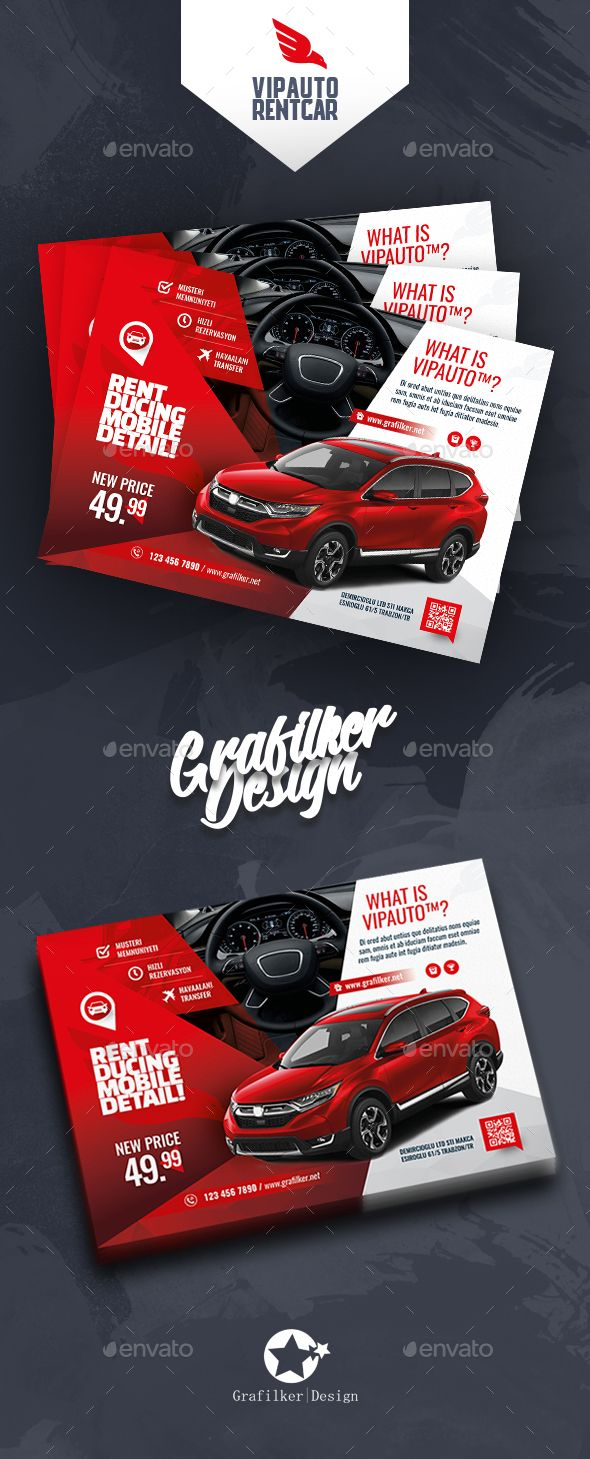 Rent A Car Flyer Templates With Images Car Advertising Design