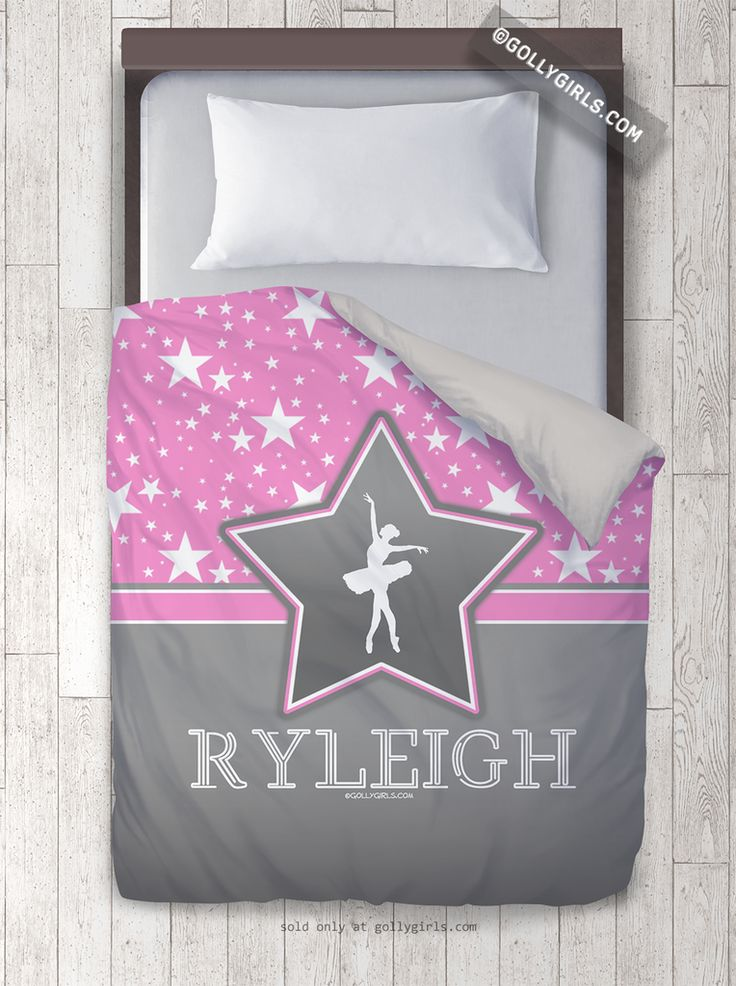 Golly Girls: Among the Stars Dance Personalized Duvet Cover only at gollygirls.com