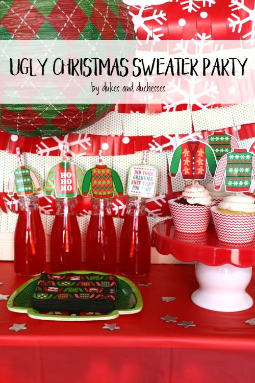 ugly christmas sweater party ideas #christmas #partyideas
