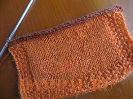 Закрытие петель полым шнуром (Вязание спицами, мастер-класс)