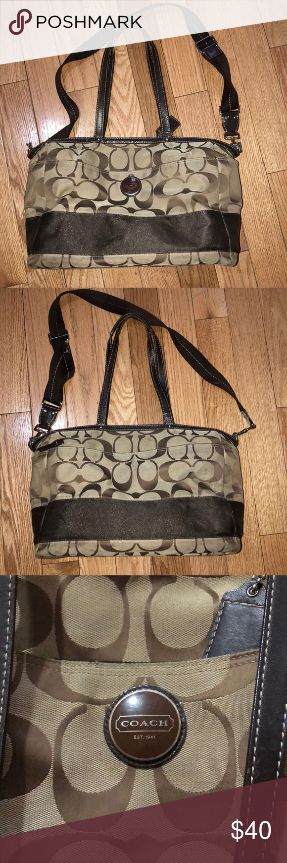 Coach diaper bag Coach diaper bag brown, used but in really good condition Coach Bags Baby Bags