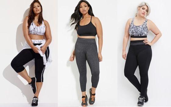 A nova linha plus size de roupas de ginástica da Forever 21