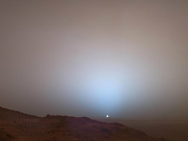 Sunrise on Mars. // I have another pin of this picture, which states 'Sunset'! Which is it?! :D