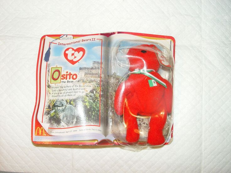 TY BEANIE BABIES-(OSITO-THE BEAR)-2000 McDonalds-TEENIE ORIGINAL BEANIE #Ty