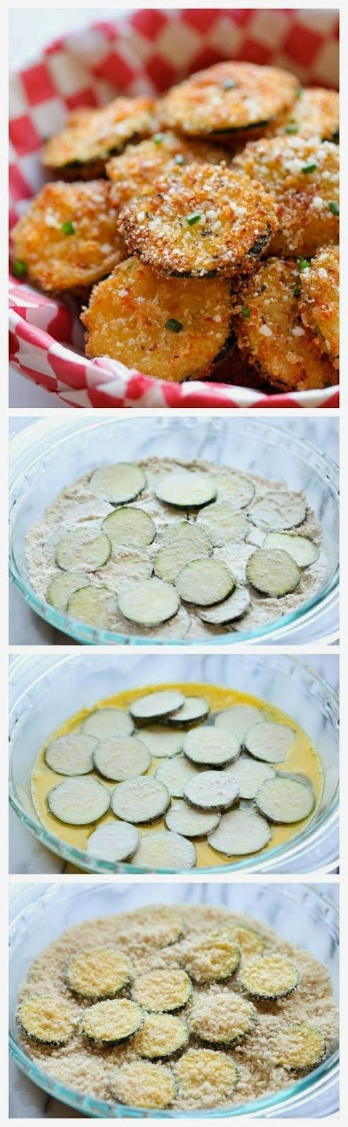 Try this link. Zucchini Parmesan Crisps http://www.foodnetwork.com/recipes/ellie-krieger/zucchini-parmesan-crisps-recipe.html