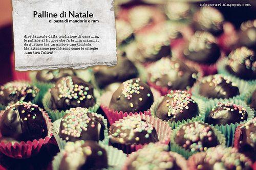 Palline di pasta di mandorle e rum su lifeincurl.blogspot.com