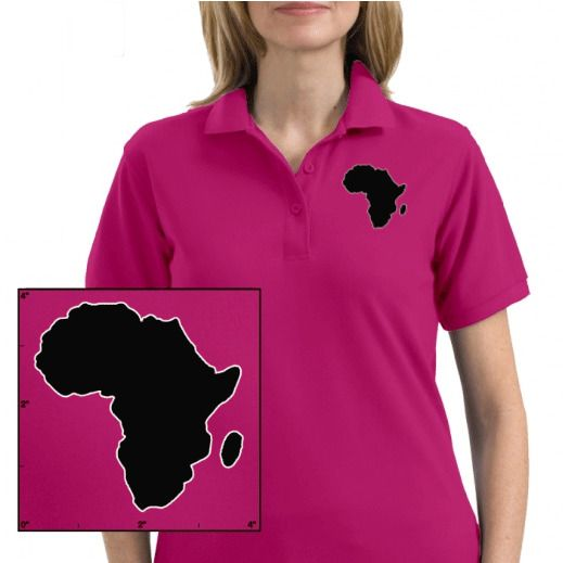 Oldschool Lady / Girl Polo Africa   pink