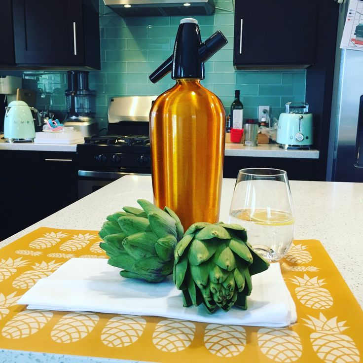 This beautiful vintage soda bottle match our pineapple 🍍 placemats Www.etsy.com/shop/ChicTip